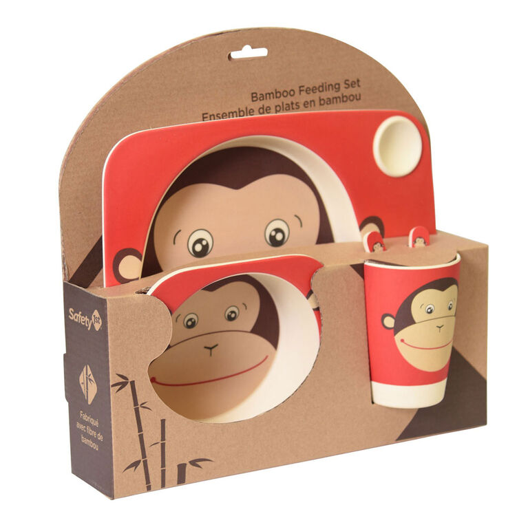 Safety 1St Bamboo Feeding Giftset-Monkey