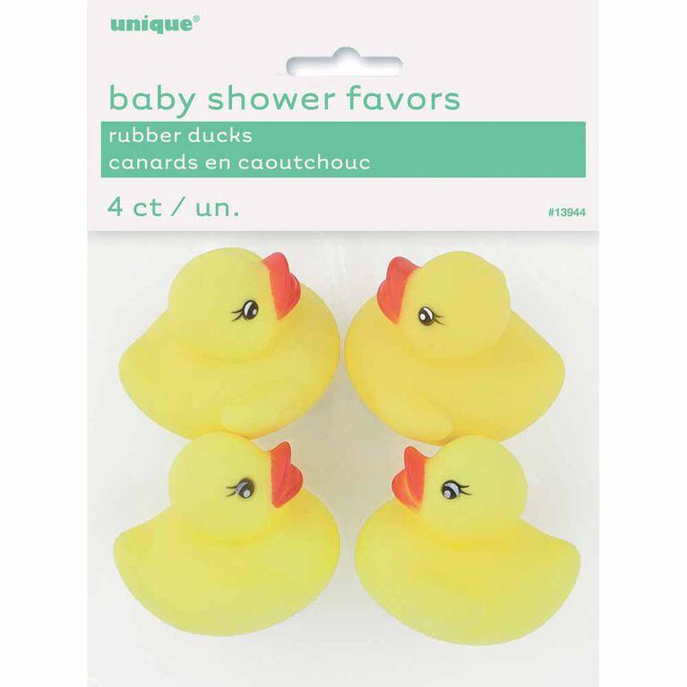 Faveurs de canard en caoutchouc pour baby shower, 4un