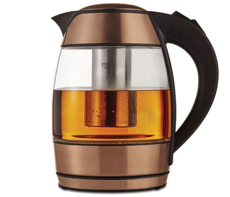 Bouilloire électrique en verre de 1,8 litre avec infuseur à thé de Brentwood