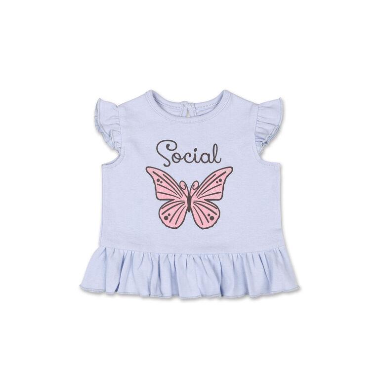 Koala Baby Social Butterfly Ruffle Sleeve Tee - 12-18 Months