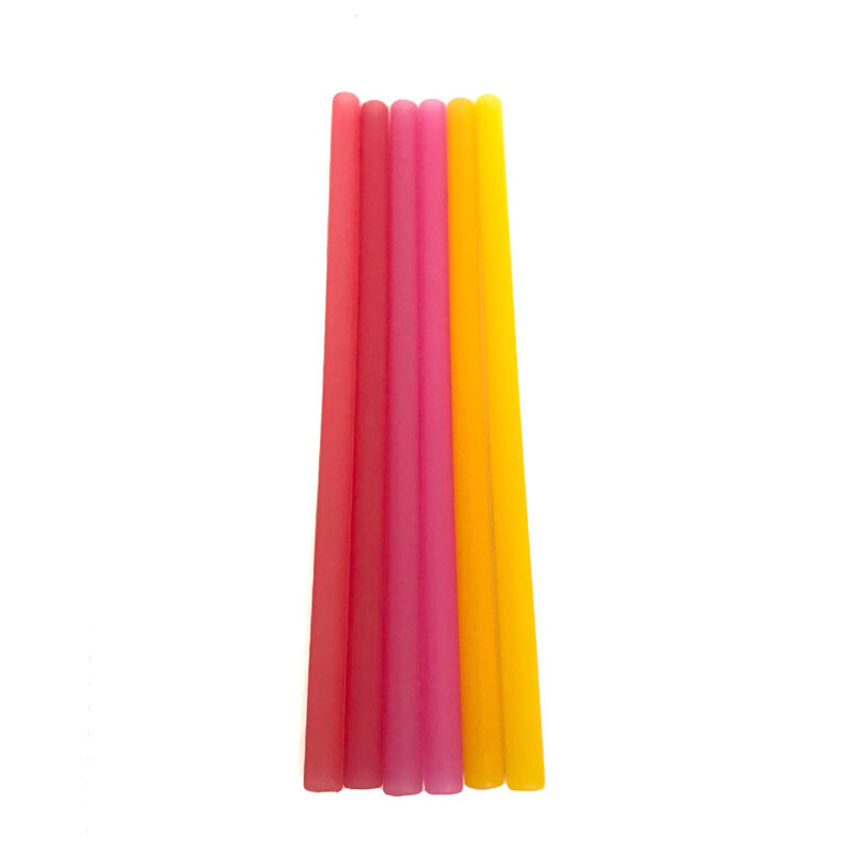 Silikids - Resusable Silicone Straws - 6 Pack - Red Ombre