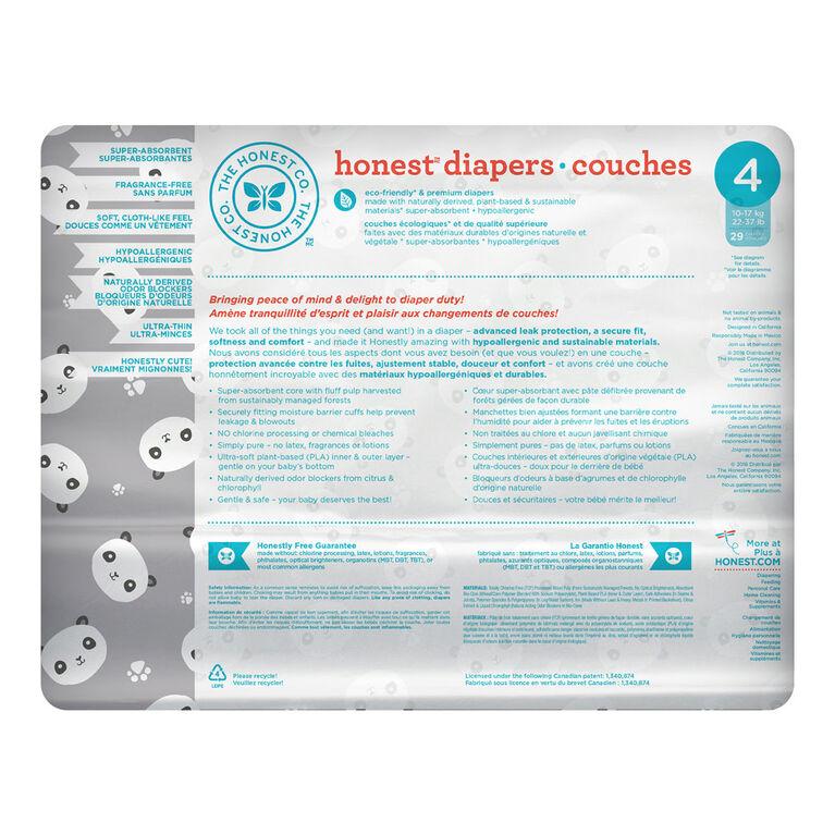 Honest Diapers Size 4 Pandas.