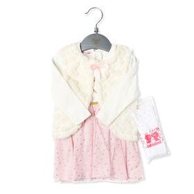 Bonjour Bebe - Girls 3 Piece Dress Set : Heart - 3-6 Months