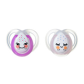 Tommee Tippee 2-Pack 0-6 Months Night Time Pacifier - Pink