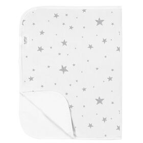 Kushies Baby Portable Changing Pad Flannel - Grey Scribble Stars