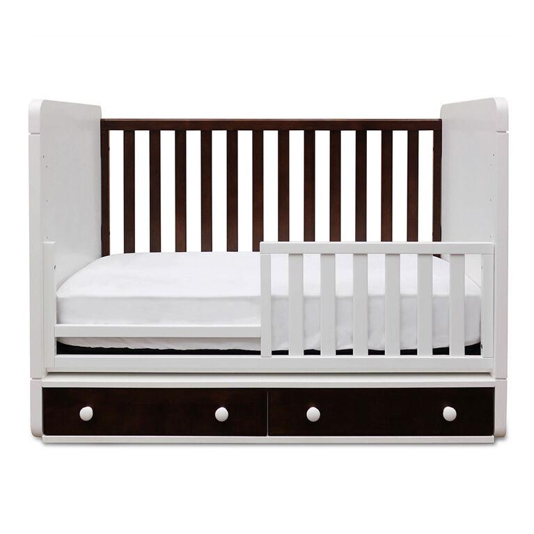 Barriere pour lit de bebe de Sassy - blanc.