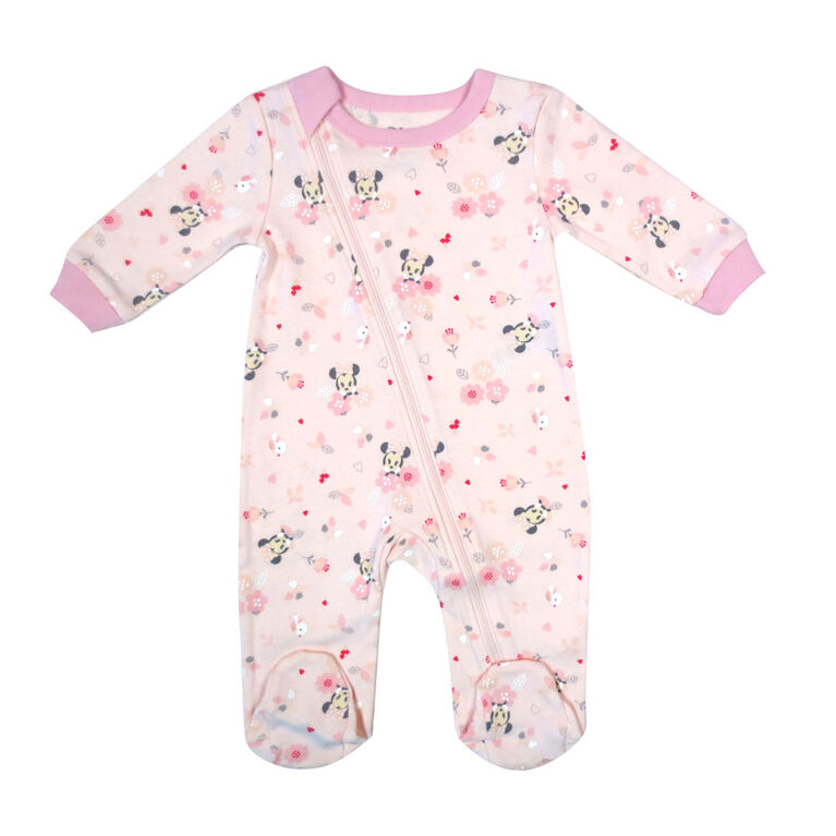 Disney Minnie Mouse 1-Piece Footed Sleeper - Pink, 12 Months