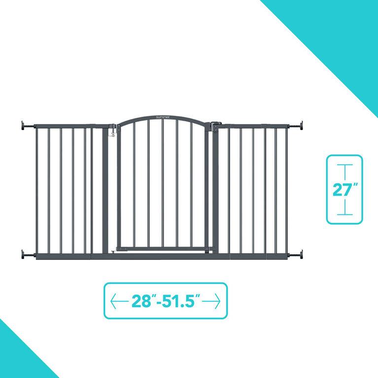 Barrière de sécurité décorative très large gris