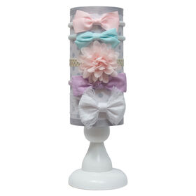 Elly & Emmy 5 piece headband stand White