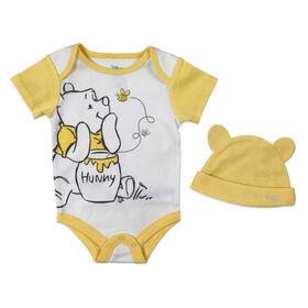 Disney Winnie the Pooh Cache couches avec chapeau - jaune, 9 mois.