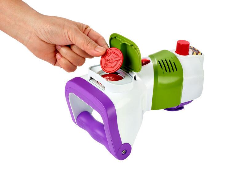Disney Pixar Toy Story4 Montre-Radio et Lanceur de disques en rafale Buzz l'Éclair.