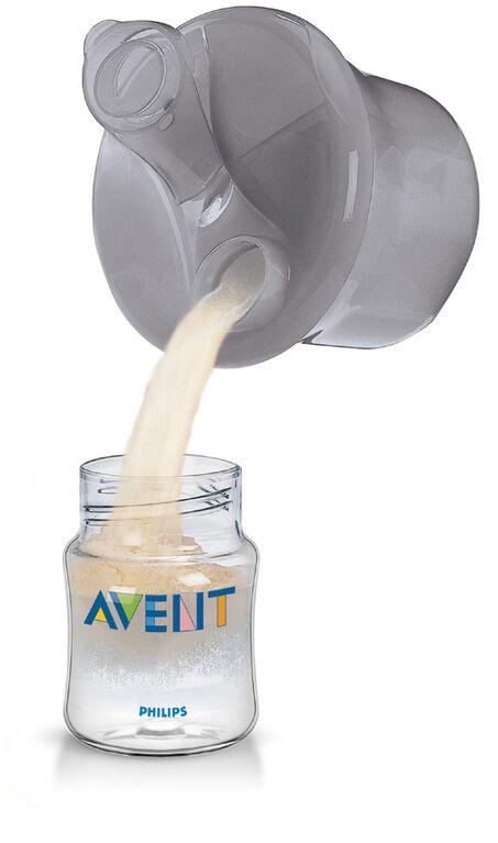 Doseur de lait en poudre et contenant à collation Philips Avent, gris, SCF135/18