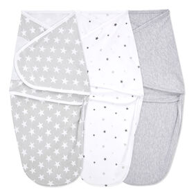 Aden + Anais Essentials 3-Pack Easy Swaddle Wraps Twinkle 0-3M