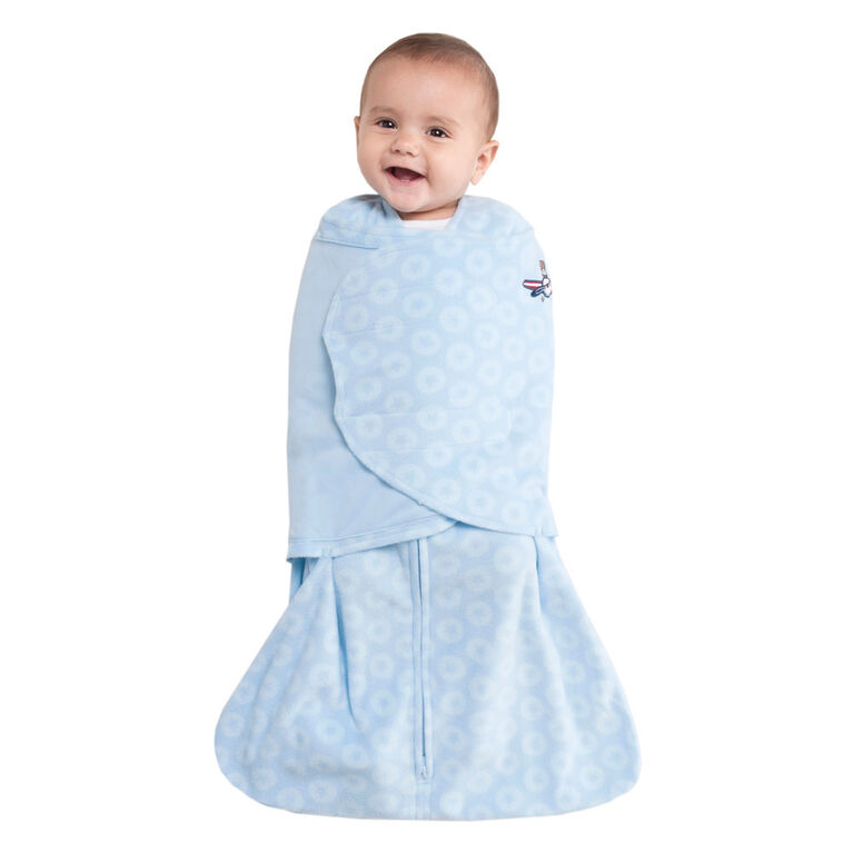 Halo SleepSack Swaddle - Blue Aviator - Micro-Fleece - Newborn