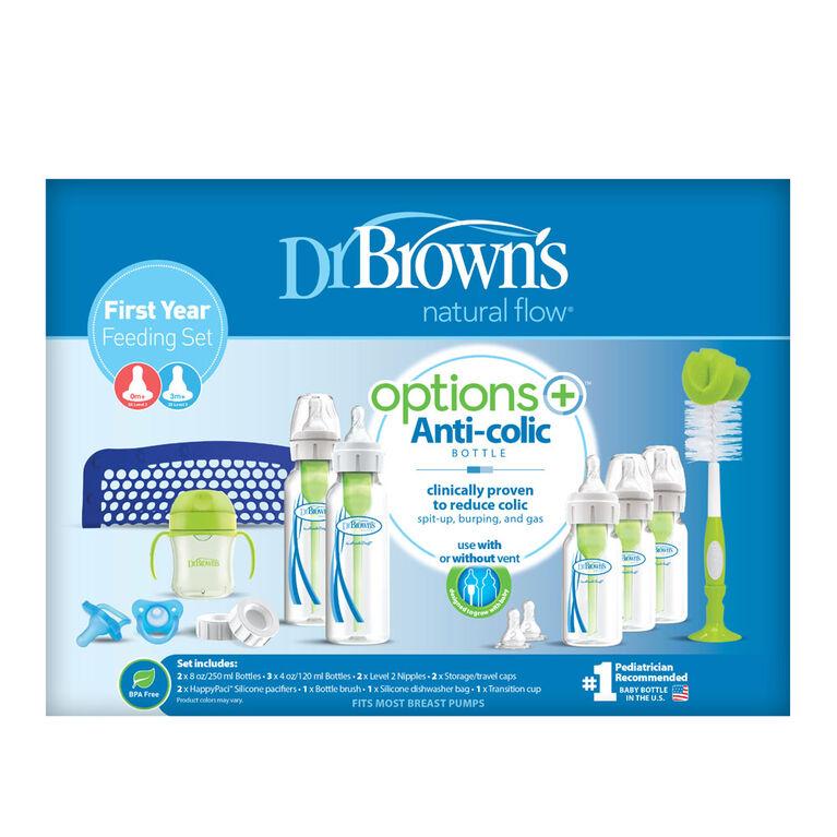 Kit d'Alimentation Première Année Options+ de Dr. Brown