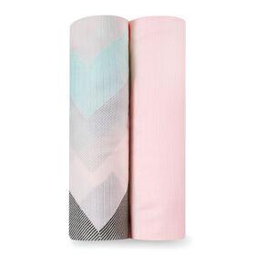 aden by aden + anais silky soft muslin swaddles - ziggy pink
