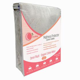 Forty Winks - Protège-matelas imperméable, respirant et aspect velours en coton biologique - Crème.
