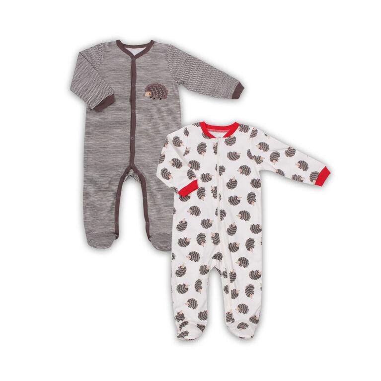 Paquet de 2 dormeuses Koala Baby  - Hedgehog, Nouveau-né