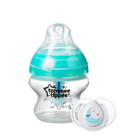 Tommee Tippee Advanced Anti Colic Baby Bottle with 0-2 mo. Newborn Pacifier - 5 Ounce, 1-Pack