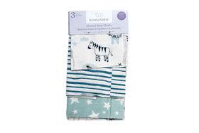 Emballage de 3 serviettes pour le rot en flanelle Koala Baby.