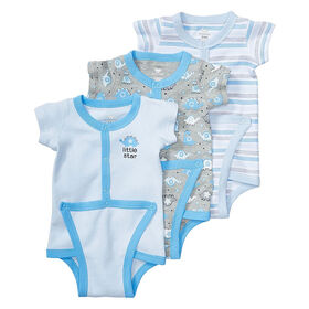 Koala Baby 3-Pack Diaper Shirt, Newborn - Blue