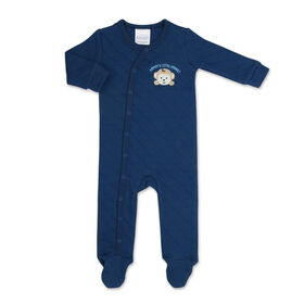 Koala Baby Navy Monkey Quilted Sleeper-Size 3-6 Months