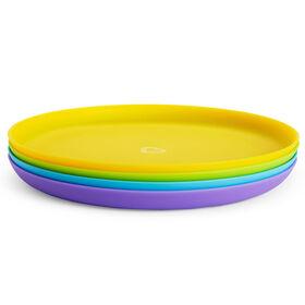 Assiettes multicolores - 4 unités