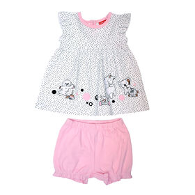 Fisher Price 2 PC Dress and Panty Set - Pink, 3 months