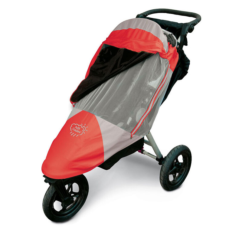 Petit Coulou 3 Seasons (4 in 1) Stroller Cover - Red/Grey