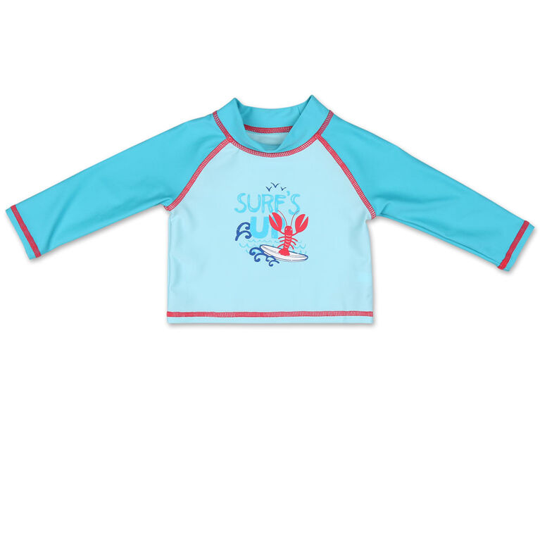 Koala Baby Long Sleeve Rash Guard Blue Surf's Up 0-3 Months
