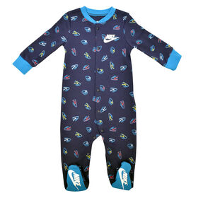 Nike footed Coverall - Navy, 6 Months