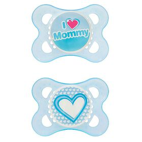 MAM Love Silicone Pacifier, 2+ Months, 2-Pack - Blue