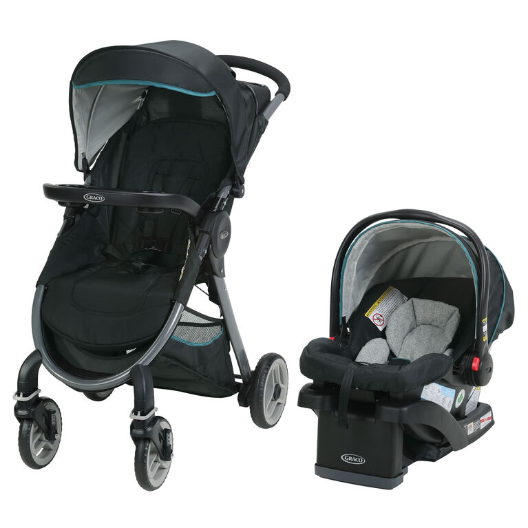 Graco FastAction Fold 2.0 Travel System with SnugRide Click Connect 35 Infant Car Seat - Darcie