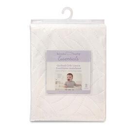 Koala Baby - Waterproof Polyester Crib Liner Pad 27 X 36 (68 X 91 Cms) 2 Pk - White