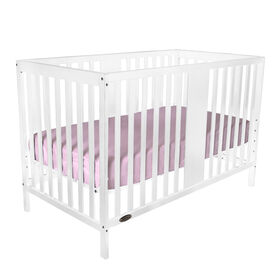 Kidiway William 4-in-1 Convertible Crib - White