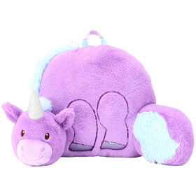 Soft Landing Nesting Nooks Premium Character Backrest with Carrying Handle & Back Pocket - Unicorn