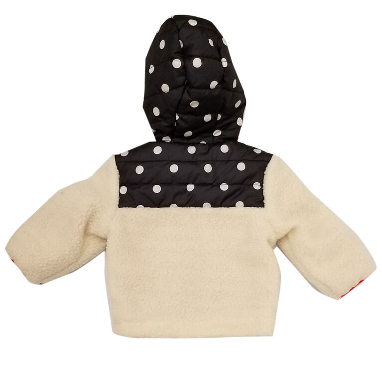 Baby Girl Minnie Mouse Sherpa Jacket 12 Months