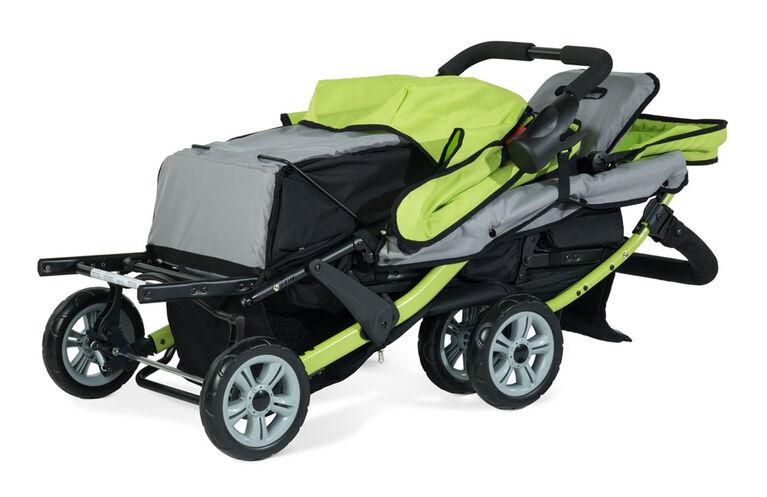 Foundations Splash of Colour Trio Sport 3 Passenger Stroller - Lime