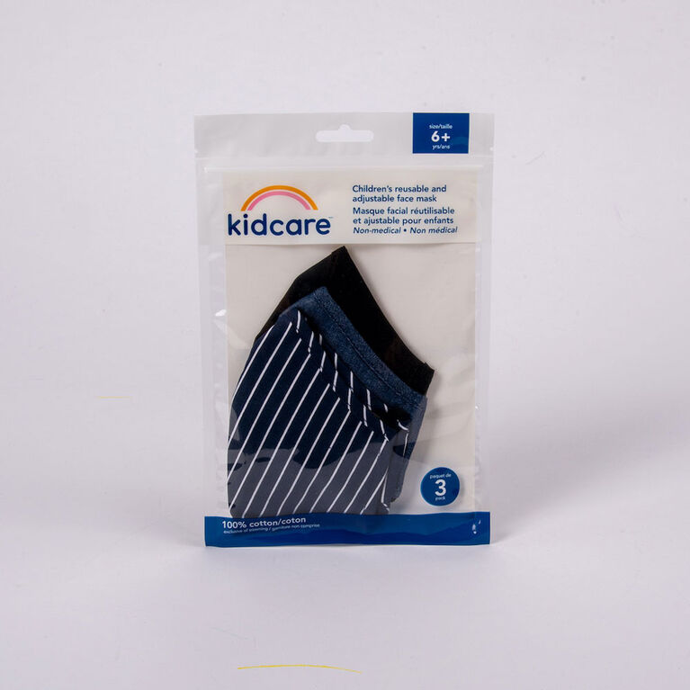 kidcare - Cloth Face Maks Youth 3-pack - Midnight Hues