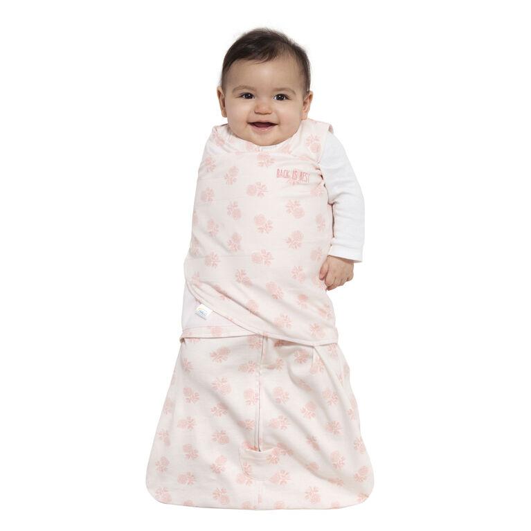 HALO SleepSack Swaddle - Cotton - Blush Rose - Newborn