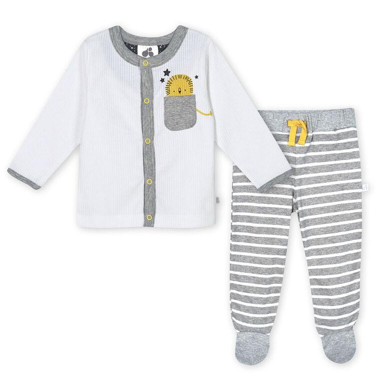 Just Born Baby Boys 3-Piece Organic Take Me Home Set - Lil Lion 3-6 Months