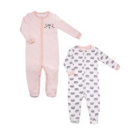 Koala Baby Girls 2-Pack Sleeper- Cats  Newborn