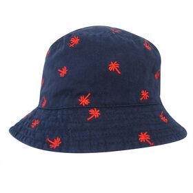 Baby B - Bucket Hat - Palm Trees, Blue, 12-24M