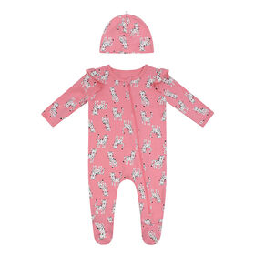 PL Baby Feline Fabulous Sleeper with Knit Hat Coral NB
