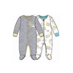 Koala Baby Unisex2-Pack Sleeper- 'Rainbow' Grey,Yellow  Preemie