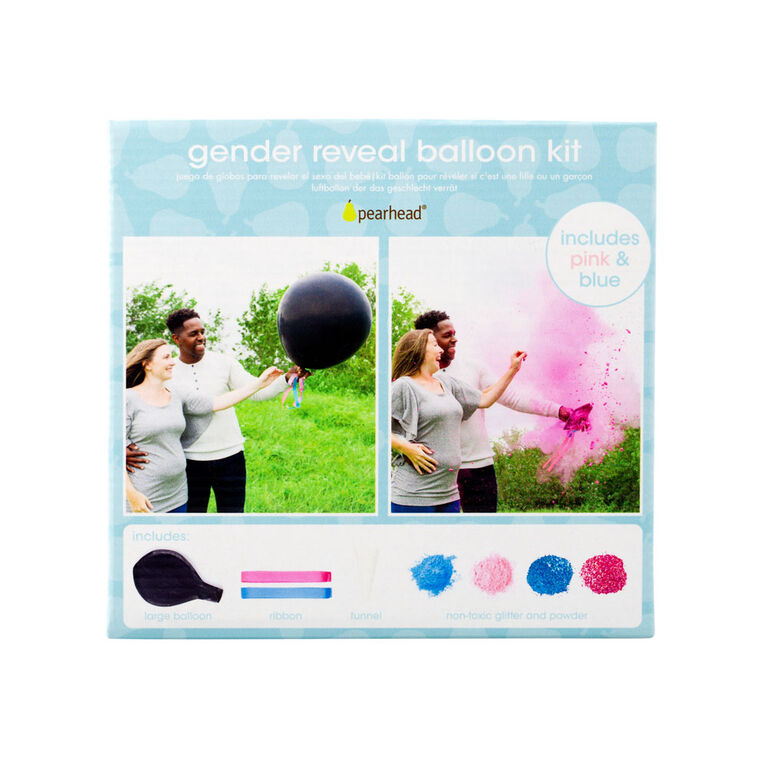E-Pearhead Gender Reveal Balloon Kit - English Edition