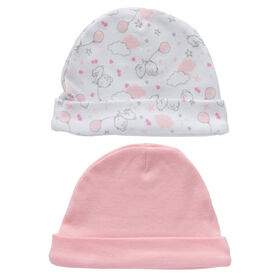 Koala Baby Esemble 2 bonnets - Ourse Rose.