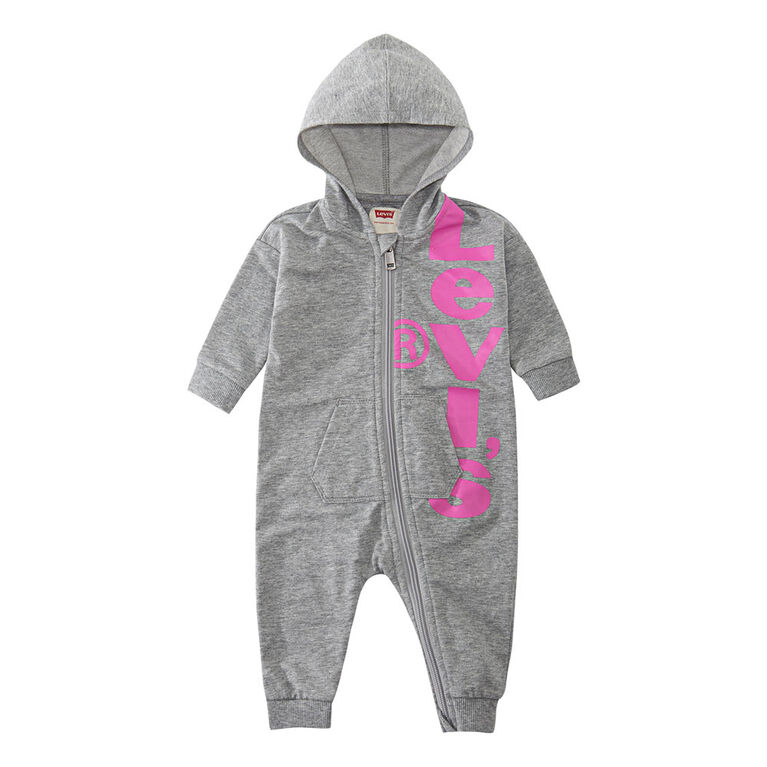 Levis Coverall - Light Grey, 3 Months
