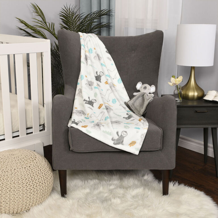 Premier ensemble en 2 pièces pour bébé, couverture et bébé ami - Koala