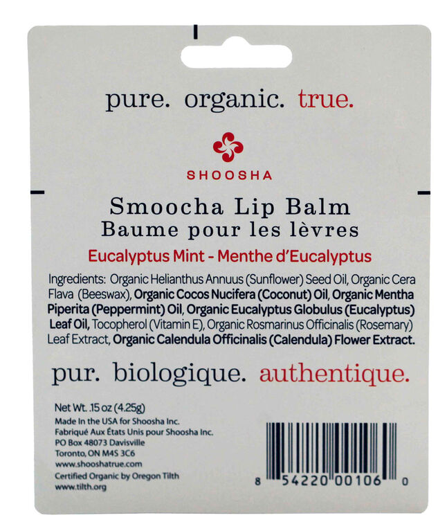 Shoosha Smoocha Lip Balm Eucalyptus Mint